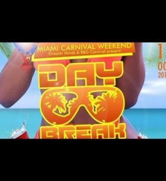 Miami Carnival DayBreak Miami Cooler Fete Edition 2019 | Tickets Fri 11 Oct