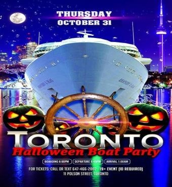 Toronto Halloween Day Boat Party
