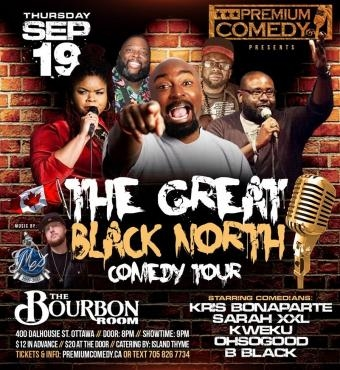 The great black north comedy tour