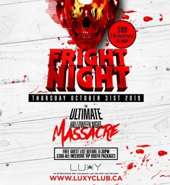 FRIGHT NIGHT - Halloween Night Inside Luxy Nightcl...