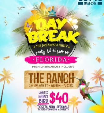 DAYBREAK Breakfast Party Florida Miami Carnival