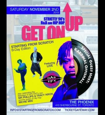GET ON UP - 90s R&B and Hip Hop - SCRATCHES BDAY NOVEMBER 2ND