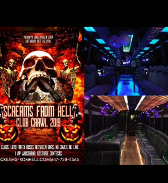 Screams From Hell Club Crawl Halloween 2019