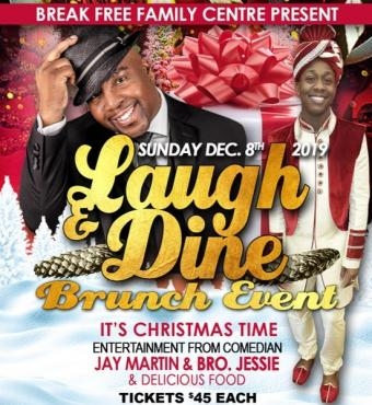 Laugh Dine Brunch Event - It's Christmas Time