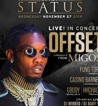 50% off Offset from Migos Live!  Strada Status