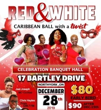 Red And White Caribbean Ball With A Twist