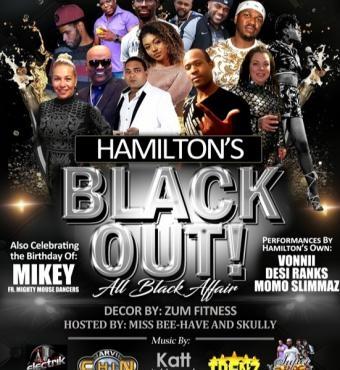 Hamilton's Black Out - All Black Affair