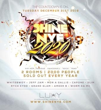 SHINE New Years Eve 2020 Inside Luxy Nightclub