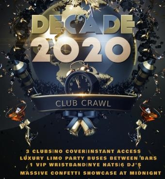 Decade Club Crawl 2020 NYE Toronto New Year's Eve Countdown