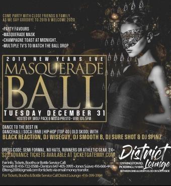 2019 Nye Masquerade Ball