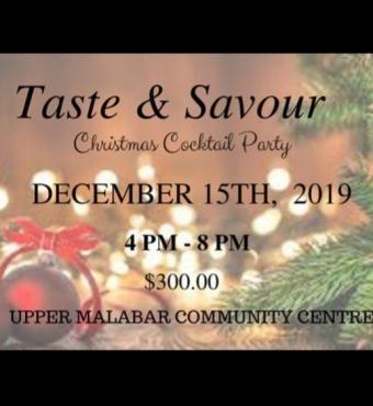 Taste & Savour Christmas Cocktail Party