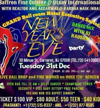 Grand Gala New Year Eve Party in Executive Suits Ball Room at Carteret Nj