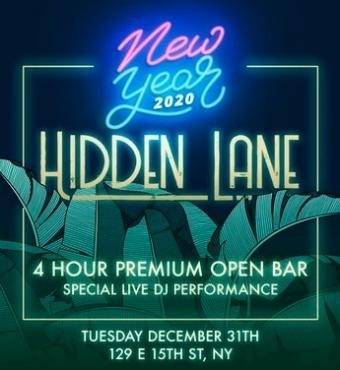 New Year's Eve 2020 at Hidden Lane | New York