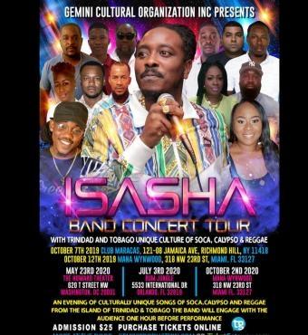 Isasha Band Concert Miami Tour 2020