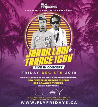 Fly Fridays : JAHVILLANI LIVE