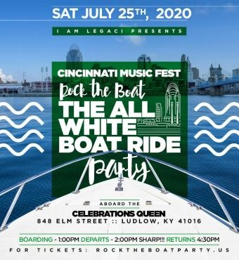 ROCK THE BOAT 2020 THE 4TH ANNUAL ALL WHITE BOAT RIDE DAY PARTY DURING THE