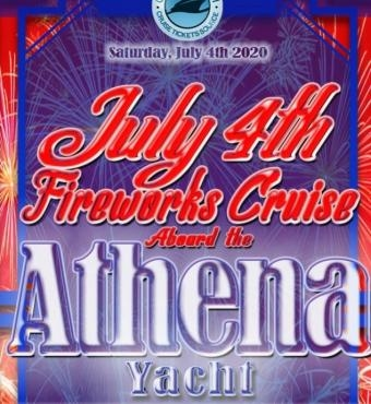 July 4th Fireworks Cruise Aboard the Athena Yacht