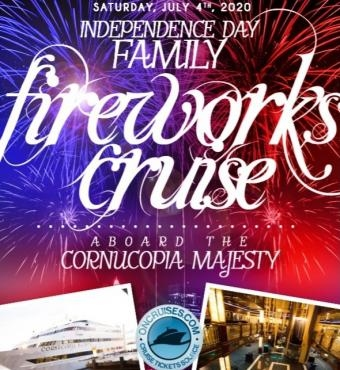 Independence Day Family Fireworks Cruise Aboard the Cornucopia Majesty Yach