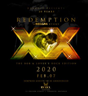 REDEMPTION 20 YEAR ANNIVERSARY BOB AND LOVER'S ROC...