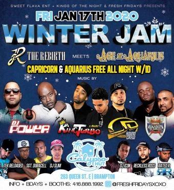 FRI. JAN. 17TH 2020 WINTER JAM - FEAT: DJ POWER | KINGTURBO | JUDGEMENTDAY | SOCA MONARCHS AND MORE