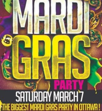 OTTAWA MARDI GRAS PARTY 2020  @ THE GREEN ROOM   OFFICIAL MEGA PARTY!