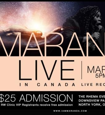 MARANDA CURTIS Live in Toronto 2020