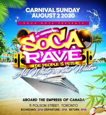 Soca Rave - All White On The Water Carnival 2020