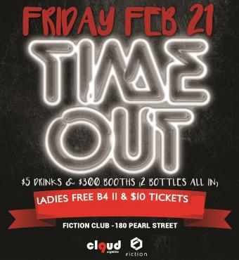 Time Out   Reading Week Party @ Fiction // Fri Feb 21   Ladies FREE, $5 Drinks & $300 Booths
