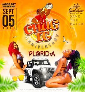 CHUG IT ANIVERSARY FLORIDA