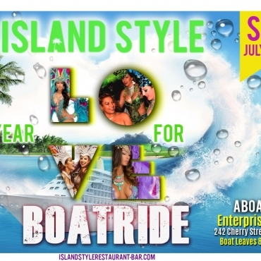 BOAT RIDE ISLAND STYLE YEAR FOR LOVE