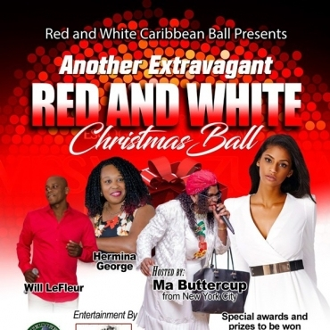 Caribbean Ball \ Another Extravagant Red and White Christmas Ball