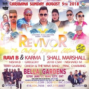 REVIVOR | Toronto Carnival Sunday Day Time Concert