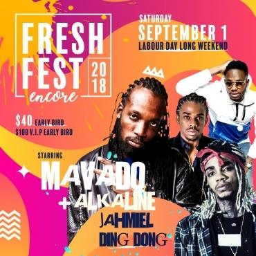 Fresh Fest 2018 Ft. Mavado Alkaline Ding Dong