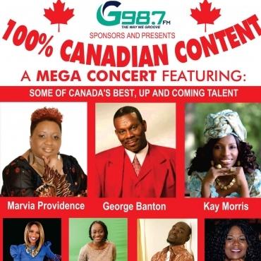 G987FM 100 percent Canadian Content Concert