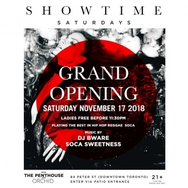 SHOWTIME SATURDAY'S - GRAND OPENING