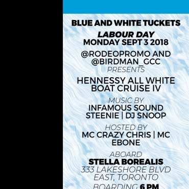 HENNESSY ALL WHITE BOAT CRUISE IV \ Labour day