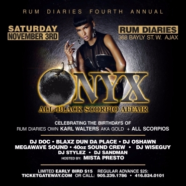 ONYX | All Black Scorpio Affair