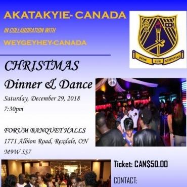 Akatakyie - Canada Christmas Dinner & Dance