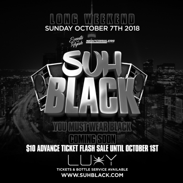 SUH BLACK | Thanksgiving Long Weekend Sunday