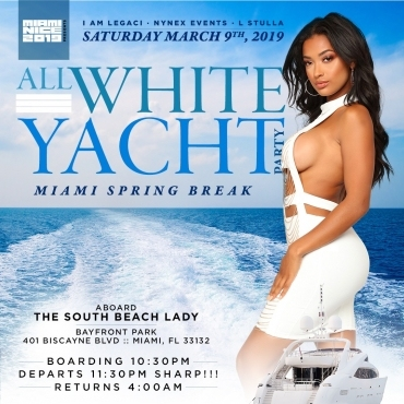 MIAMI NICE 2019 SPRING BREAK ANNUAL ALL WHITE YACHT PARTY