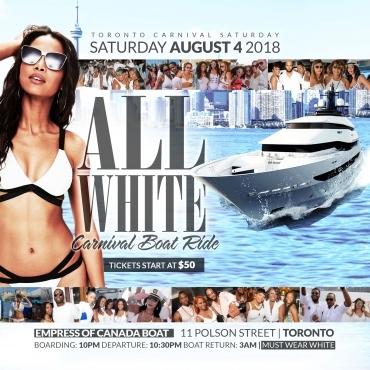 All White Carnival Boat Ride - Saturday Night