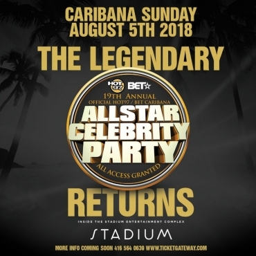 ALL STAR CELEBRITY PARTY - 19TH ANNUAL | CARIBANA SUNDAY