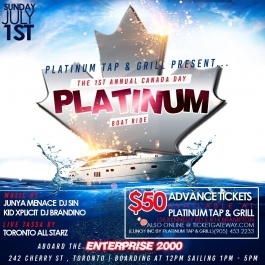 The 1st Annual, Canada Day, Platinum Boat Ride