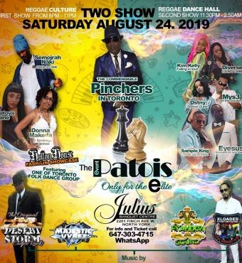 Patois the event - Featuring  PINCHERS live in Concert & Top T.DOT Artists