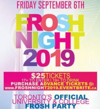 Toronto Frosh Night 2019 @ Fiction Nightclub | Official Mega Party!