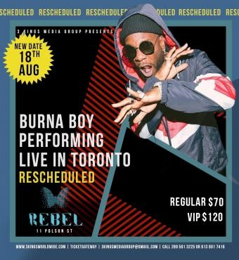 BURNA BOY LIVE IN TORONTO