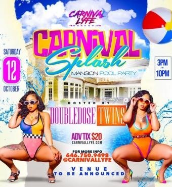 Carnival Splash Mansion Pool Party 2019 FT DOUBLE DOSE TWINS
