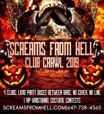 Screams From Hell Club Crawl Halloween 2019