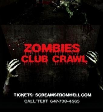 Zombies Club Crawl Toronto Halloween Party Event 2019 Friday Night