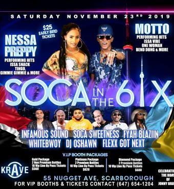 Soca In The 6ix Feat. Nessa Preppy & Motto